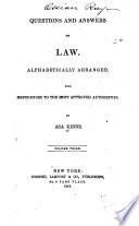 Questions and Answers on Law