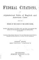 Federal Citations