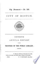 Report Of The Trustees Of The Public Library Of The City Of Boston