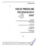 High Pressure Technology 1997