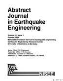 Abstract Journal In Earthquake Engineering Book PDF