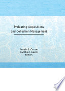 Evaluating Acquisitions and Collection Management