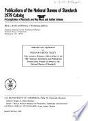 Publications of the National Bureau of Standards  1979 Catalog