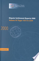 Dispute Settlement Reports 2000: Volume 4, Pages 1673-2234