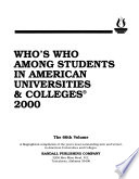 Who's who Among Students in American Universities and Colleges