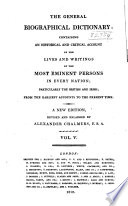 The General Biographical Dictionary  , Volume 5
