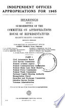 Independent Offices Appropriations For 1965