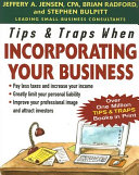 Tips Traps When Incorporating Your Business