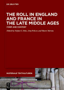 Pdf The Roll in England and France in the Late Middle Ages Telecharger