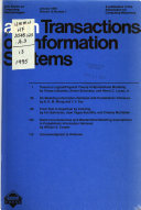 ACM Transactions on Information Systems