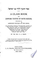 A Class Book for Jewish Youth of Both Sexes