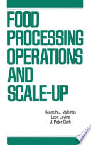 Food Processing Operations And Scale Up Book PDF