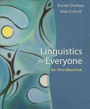 Linguistics for Everyone  An Introduction