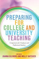Preparing for College and University Teaching Pdf/ePub eBook