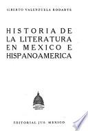Historia de la literatura en México e Hispanoamérica