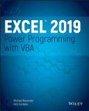 Excel 2019 Power Programming with VBA Pdf