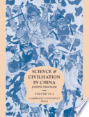 Science And Civilisation In China Volume 6 Biology And Biological Technology Part 2 Agriculture