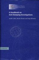 A Handbook on Anti-Dumping Investigations