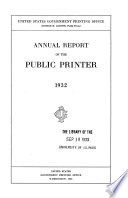 Annual Report Of The Congressional Printer