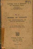 Orders of infinity: the 'Infinitarcalcul' of Paul du Bois-Reymond