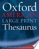 The Oxford American Large Print Thesaurus
