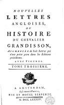 Nouvelles lettres angloises ou Histoire du chevalier Grandisson
