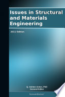 Issues In Structural And Materials Engineering 2011 Edition Book PDF