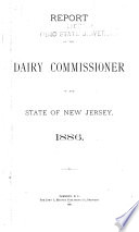 Report of the Dairy Commissioner of the State of New Jersey