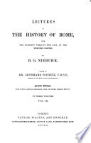 Lectures on the History of Rome