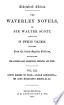 The Waverley Novels  Count Robert of Paris  Castle Dangerous  My Aunt Margaret s mirror  The tapestried chamber  Death of the Laird s Jock