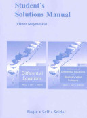 Differential Equations and Fundamentals of Differential Equations with Boundary Value Problems