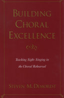 Pdf Building Choral Excellence