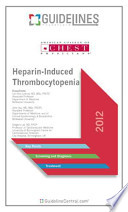 Heparin-Induced Thrombocytopenia Guidelines Pocketcard 2012