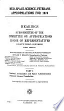 HUD-space-science-veterans Appropriations for 1974