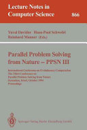 Parallel Problem Solving from Nature   PPSN III