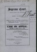 Supreme Court Appellate Division First Department Case on Appeal Volume V  Book PDF