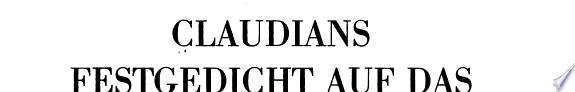 Claudians Festgedicht auf das sechste Konsulat des Kaisers Honorius