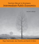 Cover of Solutions Manual to Accompany Intermediate Public Economics