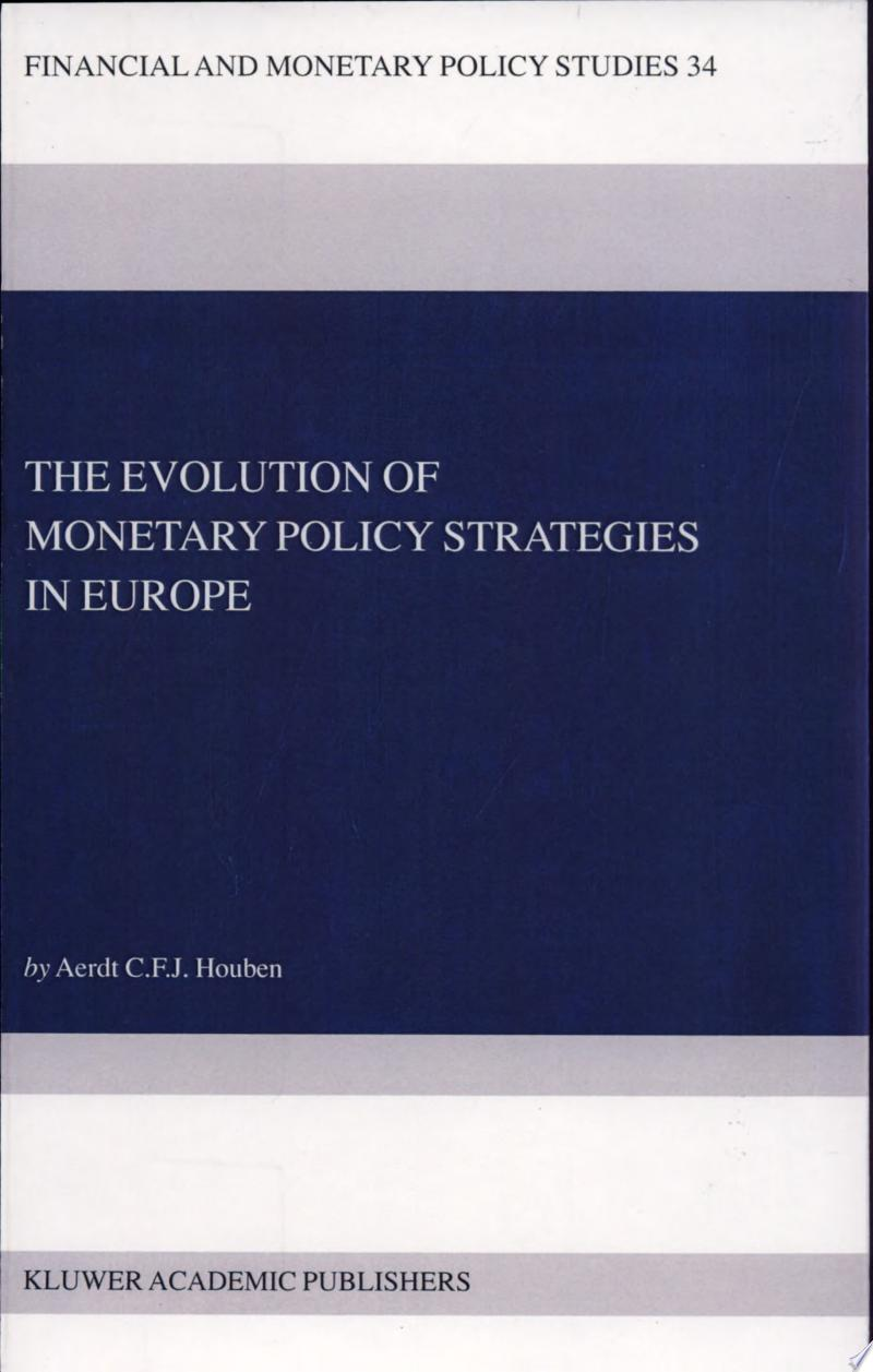 The Evolution of Monetary Policy Strategies in Europe banner backdrop