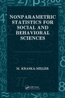 Nonparametric Statistics for Social and Behavioral Sciences
