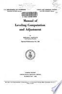 Manual of Leveling Computation and Adjustment Book