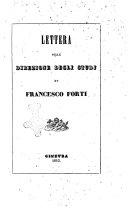 Lettera sulla direzione degli studj di Francesco Forti