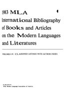 MLA International Bibliography of Books and Articles on the Modern Languages and Literatures