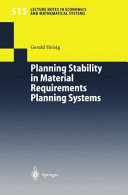 Planning Stability in Material Requirements Planning Systems
