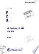 Doe Translation List