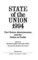 State Of The Union 1994 Book
