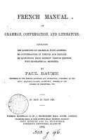 French manual of grammar, conversation, and literature