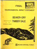 Helena National Forest  N F    Beaver Dry Timber Sales