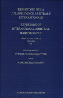 Répertoire de la Jurisprudence Arbitrale Internationale: 1946-1988 (2 v.)