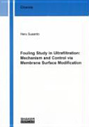 Fouling Study in Ultrafiltration